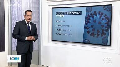 Goiás registra 2.155 casos confirmados de coronavírus e 85 mortes pela doença, diz governo - No estado, há 16.585 casos suspeitos em investigação.