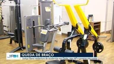 Justiça libera reabertura de academias em Goiás, mas MP e governo são contra - Fechamento das academias ocorreu após decreto estadual com medidas de prevenção ao coronavírus.