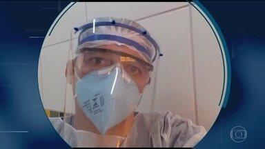 """Aqui Dentro: """"Nós sentimos o peso do cansaço no corpo"""", relata enfermeiro de Fortaleza - undefined"""