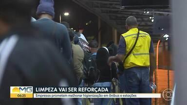 Passageiros contam que ônibus metropolitanos chegam cheios aos terminais - Equipe do Bom Dia Minas esteve na Estação São Gabriel.