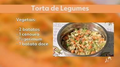 Aprenda a fazer uma torta de legumes - Saiba mais no g1.com.br/ce
