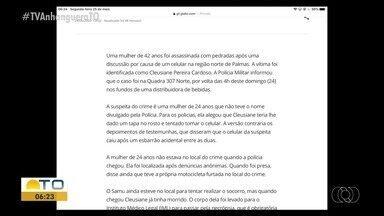 G1 destaca assassinato na região norte de Palmas - G1 destaca assassinato na região norte de Palmas