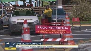 Ilha Comprida faz esquema especial para visitantes - Barreira sanitária é montada na entrada da cidade. Proprietário de casas de veraneio precisam pedir permissão para entrar.