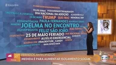 Fãs comemoram participação de Joelma nas redes - Fátima comenta os assuntos mais falados nas redes sociais