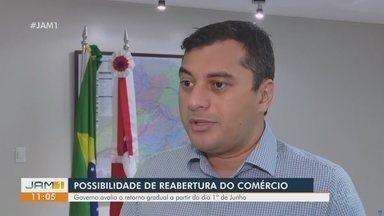 Governo do Amazonas estuda possibilidade de reabertura do comércio - Reabertura gradual deve ocorrer a partir do dia 1° de junho.