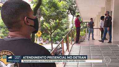 Pandemia: Dentran de BH volta a ter atendimento presencial - Maioria dos serviços voltou nesta segunda-feira (25)