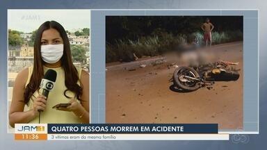 Quatro pessoas morrem em acidente - Três vítimas são da mesma família.