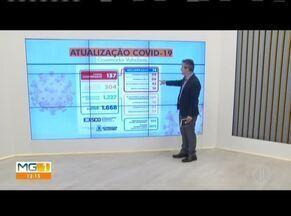 Telão mostra os números da Covid-19 em Governador Valadares - Foram 23 novos casos em apenas dois dias, segundo a Prefeitura.