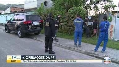 PF cumpre mandados em investigação sobre fake news - PF cumpre 29 mandados de busca e apreensão. Além do Rio, operação acontece em outros cinco estados. Outras três operações da PF estão em curso no Rio de Janeiro.
