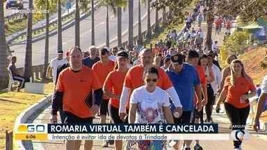 Organização cancela Romaria virtual de Trindade - Intuito é evitar aglomeração, mesmo com festa on line.