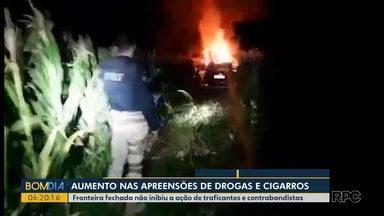 Fronteira fechada não inibiu a ação de traficantes e contrabandistas - Mesmo com a fronteira fechada pesquisa mostrou um aumento no contrabando de cigarros e eletrônicos na região de Foz do Iguaçu.