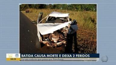 Batida causa morte de homem e deixa duas pessoas feridas - Acidente de trânsito foi em rodovia em Rancharia.