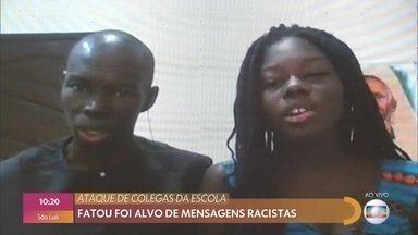 Fatou foi alvo de mensagens racistas vindas de alunos da escola - Thelma Assis conversa com a estudante