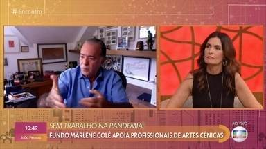 Tony Ramos está com a esposa e a sogra em casa na pandemia - O ator fala sobre as doações para profissionais de artes cênicas