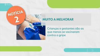Ministério da Saúde alerta que a vacinação contra a gripe está abaixo da meta - A campanha de vacinação vai até 5 de junho. Apesar de não servir para o novo coronavírus, a vacina pode ajudar a descartar o diagnóstico.