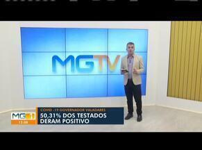 Telão mostra os números da Covid-19 em Governador Valadares - Total de infectados no município chegou a 162 nessa terça-feira (27), segundo a Secretaria de Saúde.
