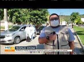 Prefeitura monta barreiras sanitárias em Teófilo Otoni - Objetivo é tentar evitar que pessoas infectadas pelo novo coronavírus tenham acesso à cidade.