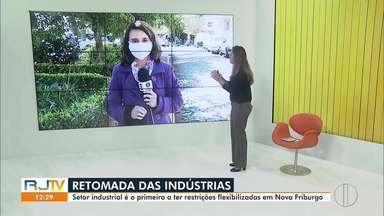 Setor industrial é o primeiro a ter restrições flexibilizadas em Nova Friburgo, no RJ - Anúncio foi feito pelo prefeito Renato Bravo por meio de live nesta quarta-feira (27).