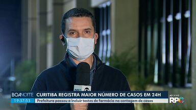 Curitiba registra o maior número de casos de coronavírus em um dia - Prefeitura passou a incluir testes de farmácia na contagem de casos.