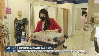 Comerciantes veem oportunidade na crise - Lojas criam novos modelos de negócio para manter as vendas durante a crise provocada pela pandemia do coronavírus. Segundo o Sebrae, esse é o caminho para sobreviver às adversidades.