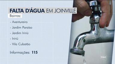Obras de saneamento afetam abastecimento de água em Joinville - Obras de saneamento afetam abastecimento de água em Joinville