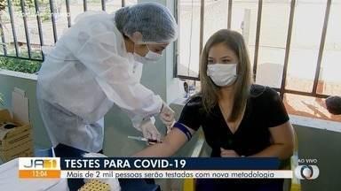 Secretaria Municipal de Saúde testa mais 2,6 mil moradores para Covid-19, em Goiânia - Segunda etapa da testagem rápida é realizada neste sábado (30). Com mudança de metodologia, SMS aguarda resultados mais eficazes.