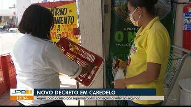 Prefeitura de Cabedelo publica novo decreto para combate à Covid-19 - As novas regras para acesso aos supermercados começam a valer na segunda-feira, assim como o início das aulas da rede municipal