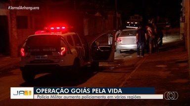 Operação da PM busca aumentar o policiamento em Goiânia - Segundo a corporação, a intenção é diminuir a quantidade de crimes e dar mais segurança aos moradores.