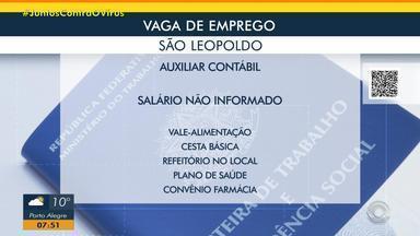 Empresa de São Leopoldo tem vaga para auxiliar contábil - Acesse o g1.com.br/rs e veja os detalhes.