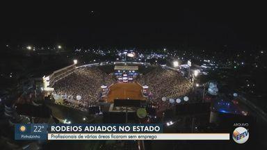 Rodeios são adiados no estado de São Paulo e profissionais da área ficam sem emprego - De acordo com uma pesquisa do Sebrae, 98% dos eventos foram cancelados por causa da pandemia do novo coronavírus.