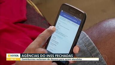 Contribuintes reclamam da demora no atendimento do INSS - Por causa da pandemia, os atendimentos do INSS estão sendo disponibilizadas pela internet.
