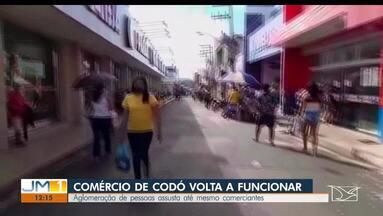 Decreto da prefeitura de Codó permite reabertura parcial do comércio - Cidade tem quase mil casos de Covid-19. Mesmo assim, pessoas ainda ignoram as regras do distanciamento social.