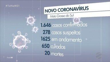 Com 339 casos confirmados, Dourados passa a ser foco da COVID-19 em MS - Mato Grosso do Sul chegou a 1646 casos positivos em 49 municípios.