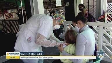 Campanha da vacinação contra a gripe é prorrogada até dia 30 de junho - Vacinação é voltada para os grupos prioritários.