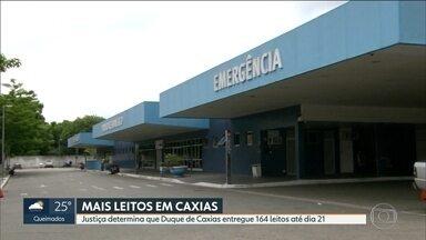 Justiça manda abrir mais 164 leitos para Covid-19 em Duque de Caxias - Hospital de campanha da cidade é um dos que ainda não ficou pronto.