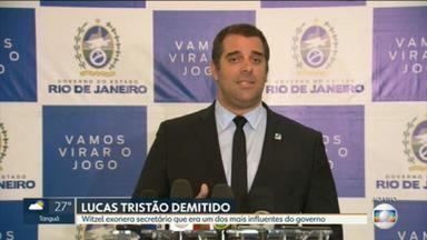 Witzel exonera secretário Lucas Tristão - O secretário de Desenvolvimento Regional foi exonerado pelo governador.