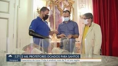 Lions Clube doa 2 mil protetores em Santos - Expectativa da instituição é produzir mais de 9 mil para a região.
