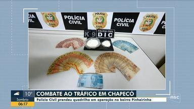 Polícia Civil prende grupo suspeito de tráfico de drogas em Chapecó - Polícia Civil prende grupo suspeito de tráfico de drogas em Chapecó