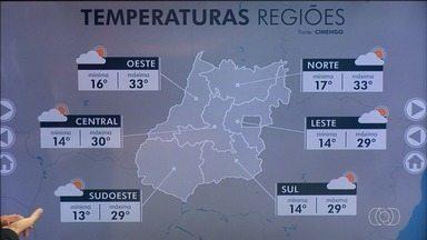 Confira previsão do tempo para esta quinta-feira (4) em Goiás - Goianos podem esperar tempo fresco, mas baixa umidade no ar.