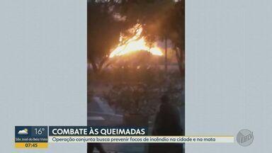 Operação busca prevenir focos de incêndio em Ribeirão Preto, SP - Queimadas podem contribuir para elevação de problemas respiratórios na população.