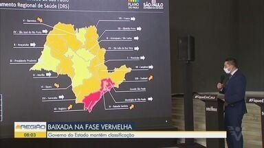 Estado mantém Baixada Santista na fase vermelha - Notícia não agradou os prefeitos da região