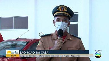 Corpo de Bombeiros alerta para acidentes com fogos durante período junino - Corpo de Bombeiros alerta para acidentes com fogos durante período junino.