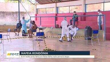Confira como foi o primeiro dia de alguns municípios da campanha Mapeia Rondônia - O objetivo é realizar 100 mil testes rápidos para Covid-19.