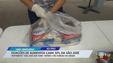 """Doações de alimentos caem em São José - Movimento """"São José Sem Fome"""" atende 4 mil famílias na cidade."""