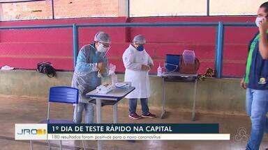 1º dia de teste rápido na capital - 180 resultados foram positivos para o novo coronavírus