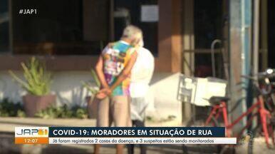 Consultório móvel auxilia tratamento de moradores de rua em Macapá; 2 já foram infectados - Após a confirmação do primeiro caso no hotel onde moradores de rua estão abrigados, uma testagem em massa foi realizada. Três casos suspeitos estão em análise.