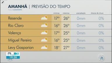 Sexta-feira será de sol entre nuvens na região - Confira como ficam os termômetros em algumas cidades.