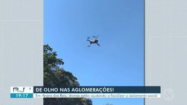 Fiscais usam drones para identificar possíveis aglomerações de pessoas em Angra dos Reis - Equipamentos permitem que imagens sejam captadas em locais de difícil acesso, auxiliando a fiscalização de decretos municipais durante a pandemia da Covid-19.
