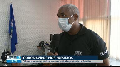 50 casos de coronavírus já foram confirmados em unidades prisionais da PB - Duas detentos morreram após serem contaminados pela Covid-19.