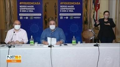 Secretário de Saúde de Pernambuco ressalta abertura de novos leitos - Com isso, ele diz que a pressão por vagas está diminuindo